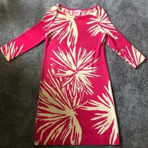 Lilly Pulitzer Pink and White Light Sweater Dress